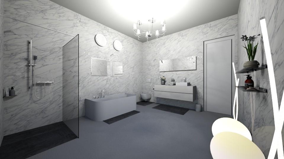 Luxury Gray - Modern - Bathroom - by halizanrh