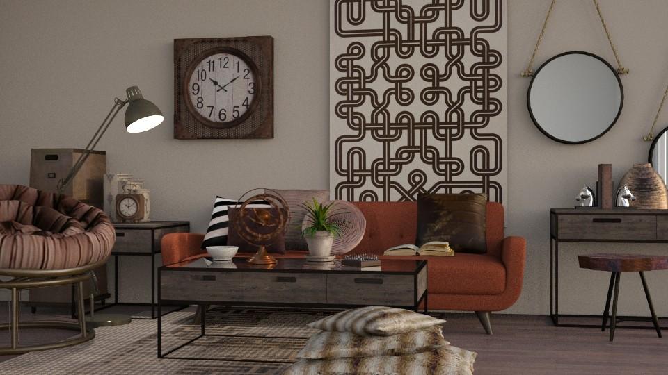 Rustic - Modern - Living room - by Jessica Fox
