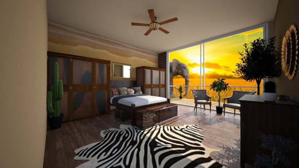 jungle room - Country - Bedroom - by jjannnii