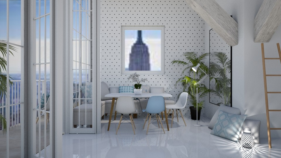 Light Blue Touches - Modern - Dining room - by millerfam