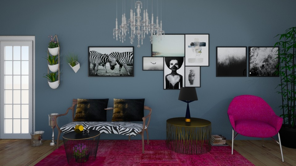 pink and gold  - Modern - Living room - by zrinkaroso