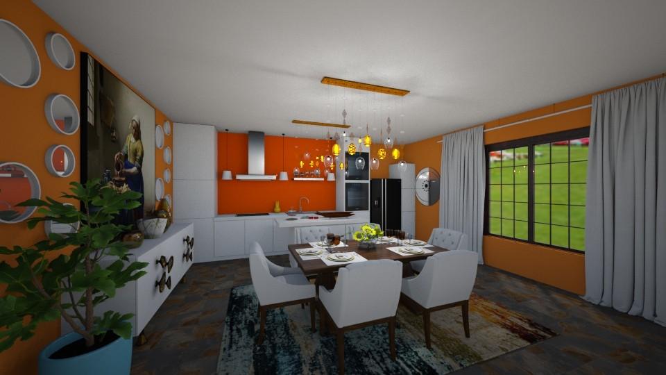 Mid Century Kitchen - Kitchen - by SherryDW