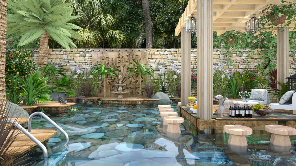 Design 285 Backyard Paradise - Garden - by Daisy320