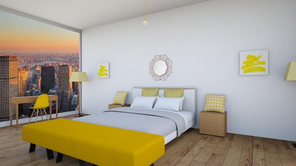 simply yellow - Bedroom - by 16ielliott