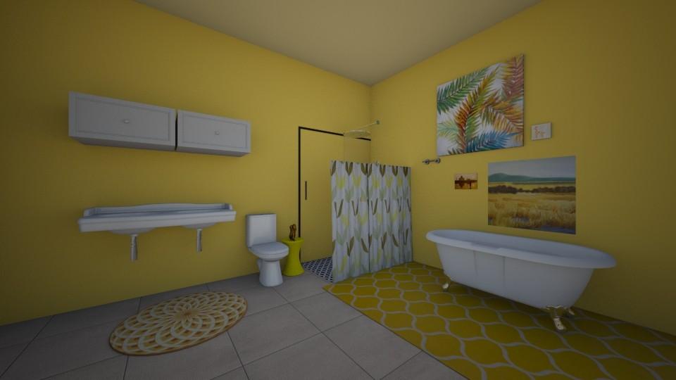 Yellow bathroom contest - Bathroom - by Crazy cat girl 10
