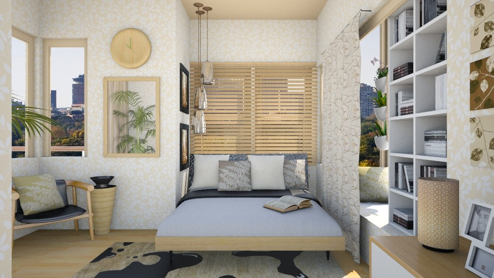 Leaf Trail Lemon - Bedroom - by JayPH