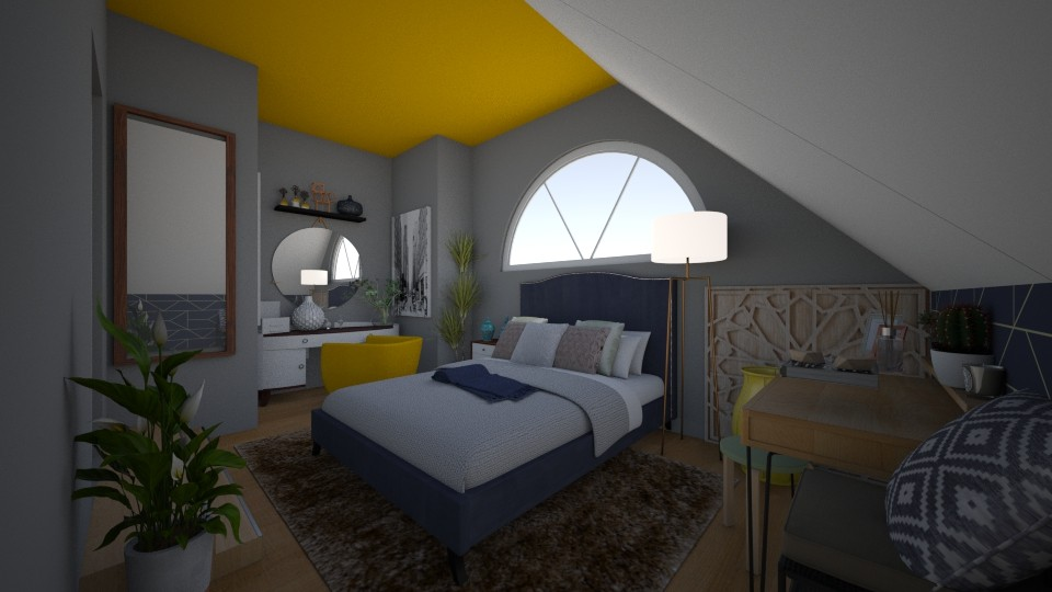 Yellow Bedroom - by NatalieH