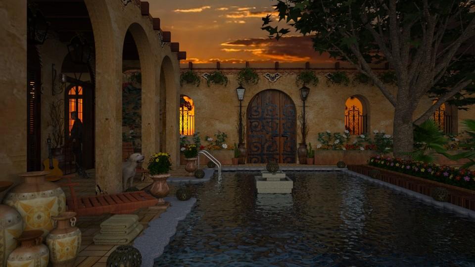 Design 431 Southwest Summer Evening - Garden - by Daisy320