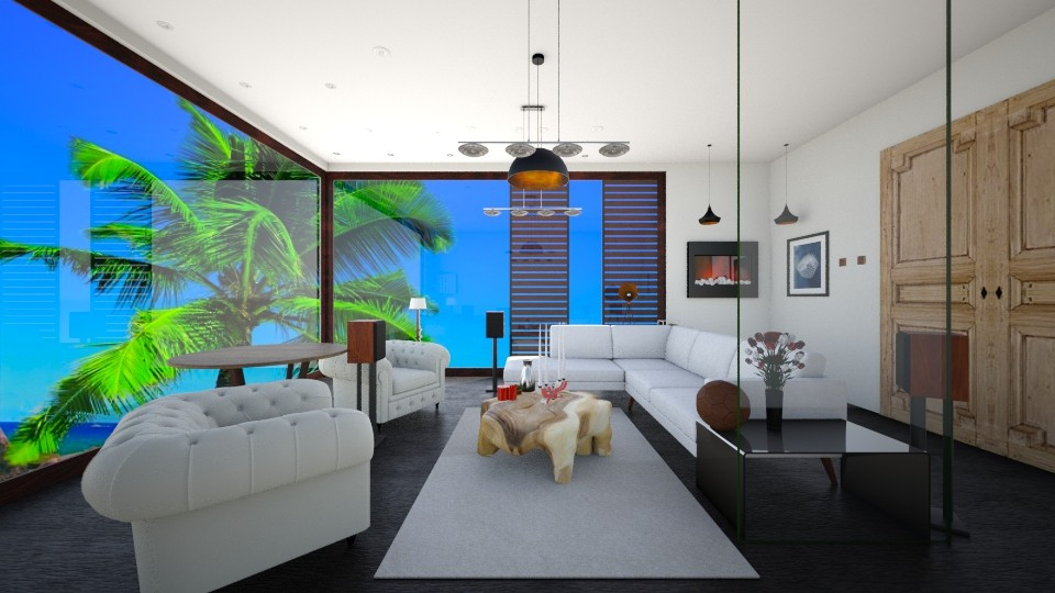 Living Room Beach - Modern - Living room - by MarquiGames