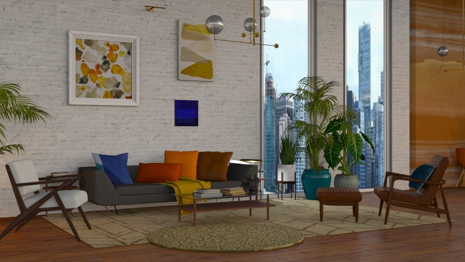 Mid Century Modern 1  - Modern - Living room - by NEVERQUITDESIGNIT