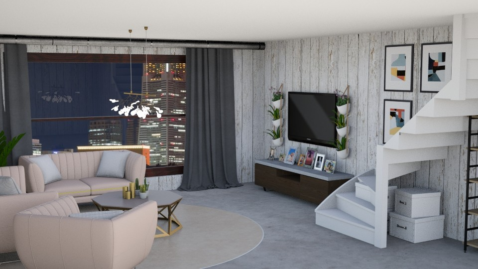City View - Living room - by  Keira
