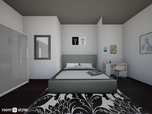 Black and White bedroom - Modern - Bedroom - by GylfiThorSigurdsson