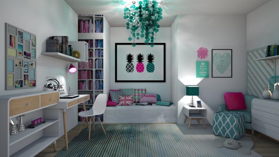 Pink Mint Room - by tiara7