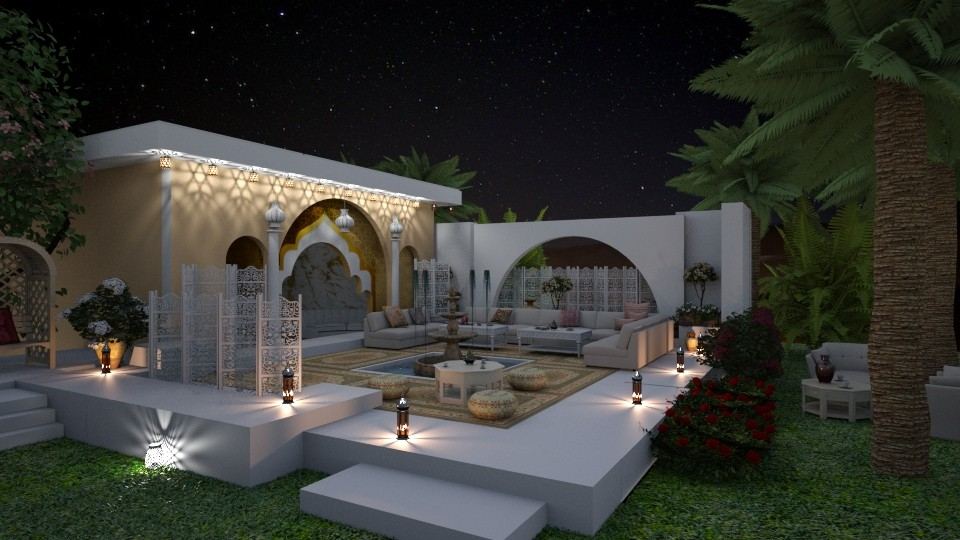 Arabian Courtyard - by marocco