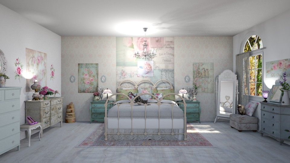 Shabby Chic Bedroom - Bedroom - by  krc60