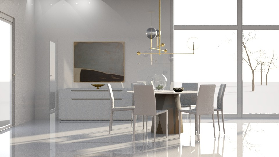 White Room - Dining room - by GraceKathryn
