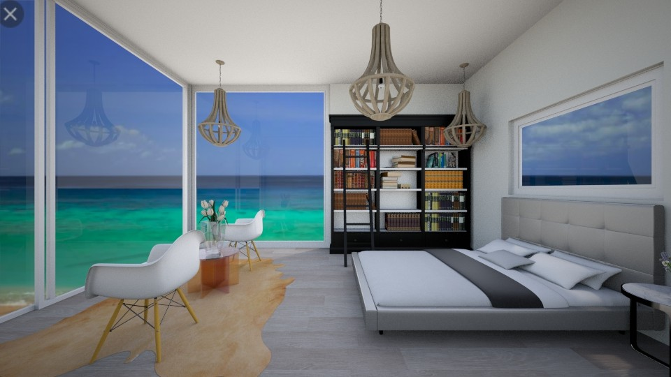 beach view - Modern - Bedroom - by R A I N A