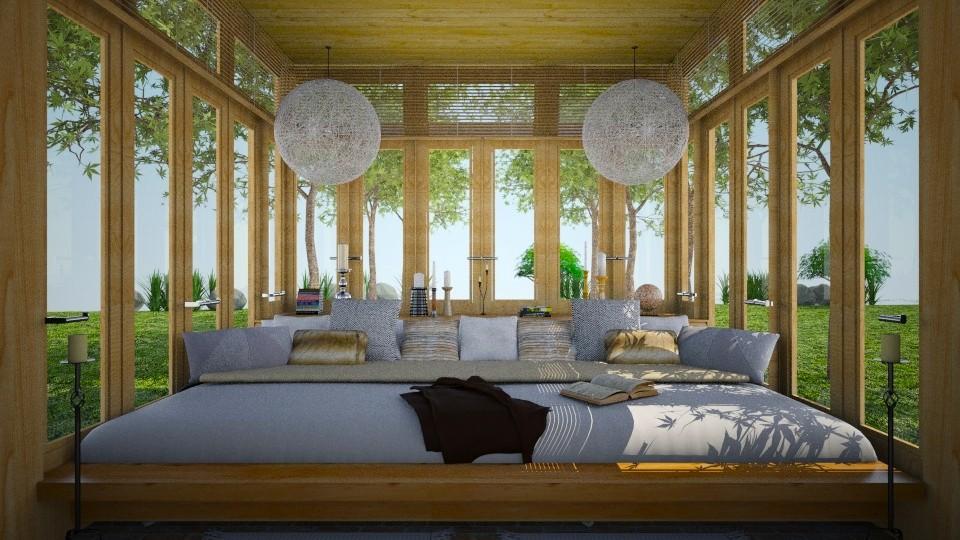 big breezy bed - Rustic - Bedroom - by russ