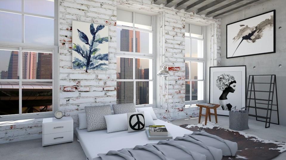 Industrial Living - Bedroom - by bgref