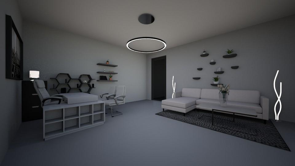 Monochrome - Office - by halizanrh