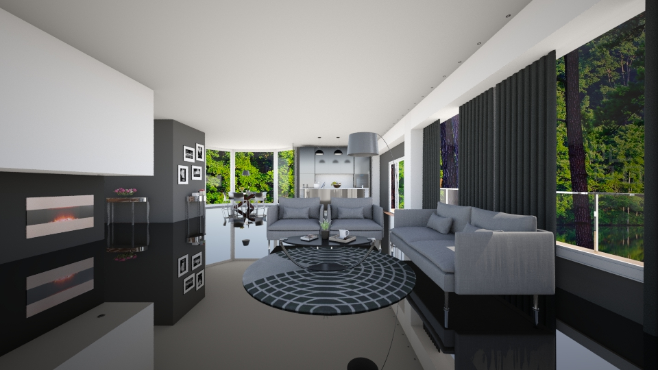GREY BROWN  - Living room - by MadebyG