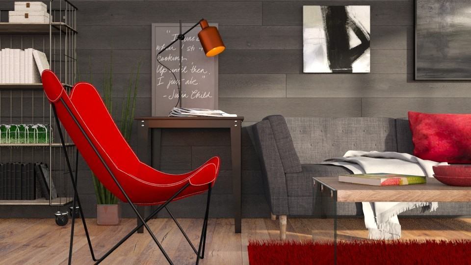 Red and Grey - Modern - Living room - by Sally Simpson