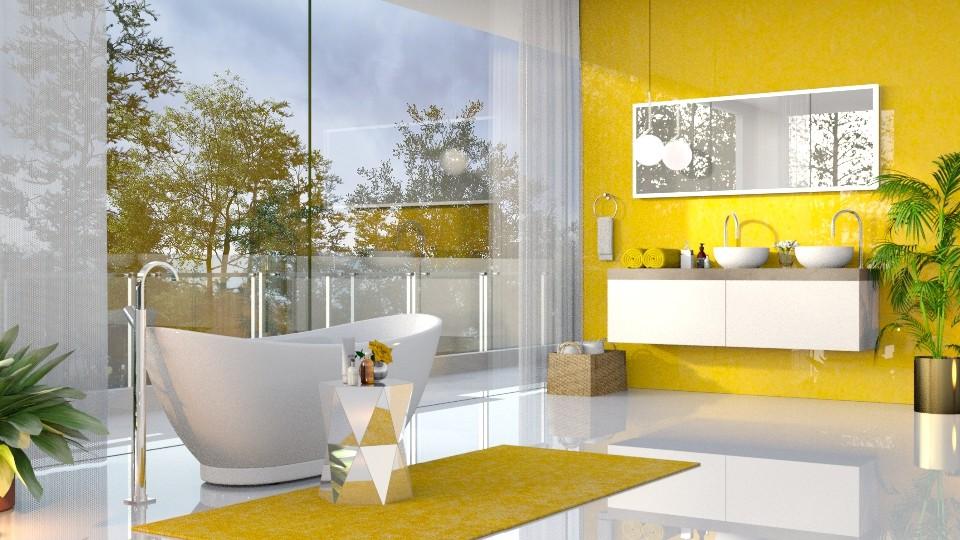 Yellow Bathroom - Bathroom - by Valkhan