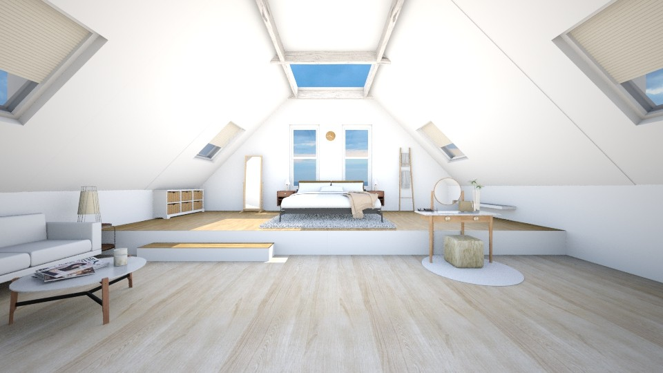 Fresh Attic Bedroom - Modern - Bedroom - by kerryrosemoan
