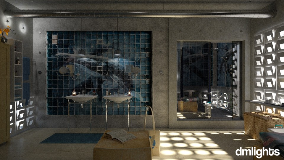Blue Whale - Bathroom - by DMLights-user-991288