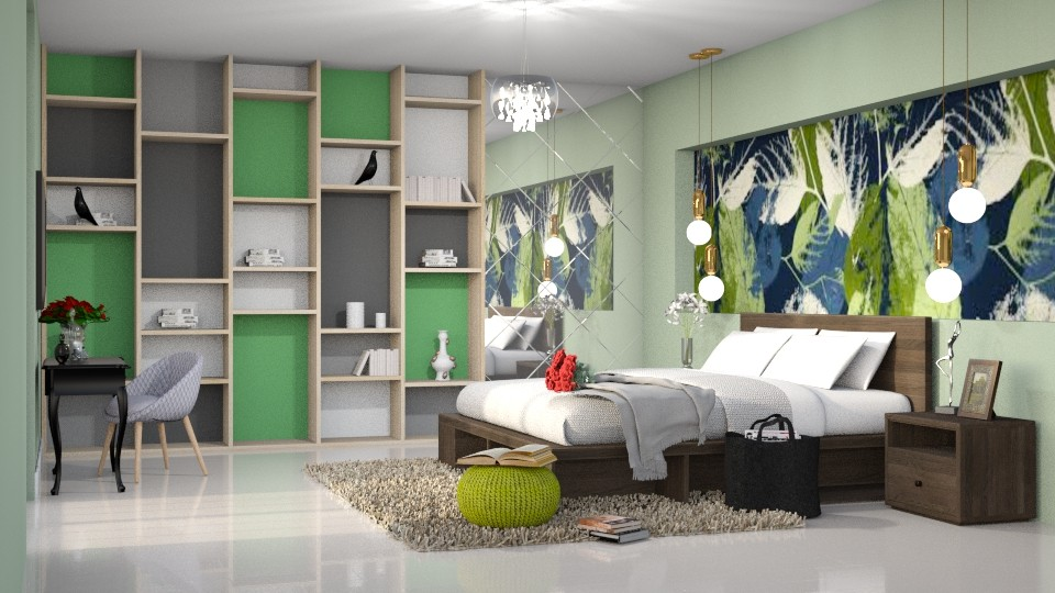 Encanto verde - Bedroom - by Alecio