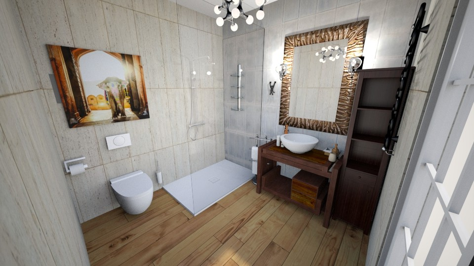 Bathroom with elephant - Modern - Bathroom - by ewcia3666