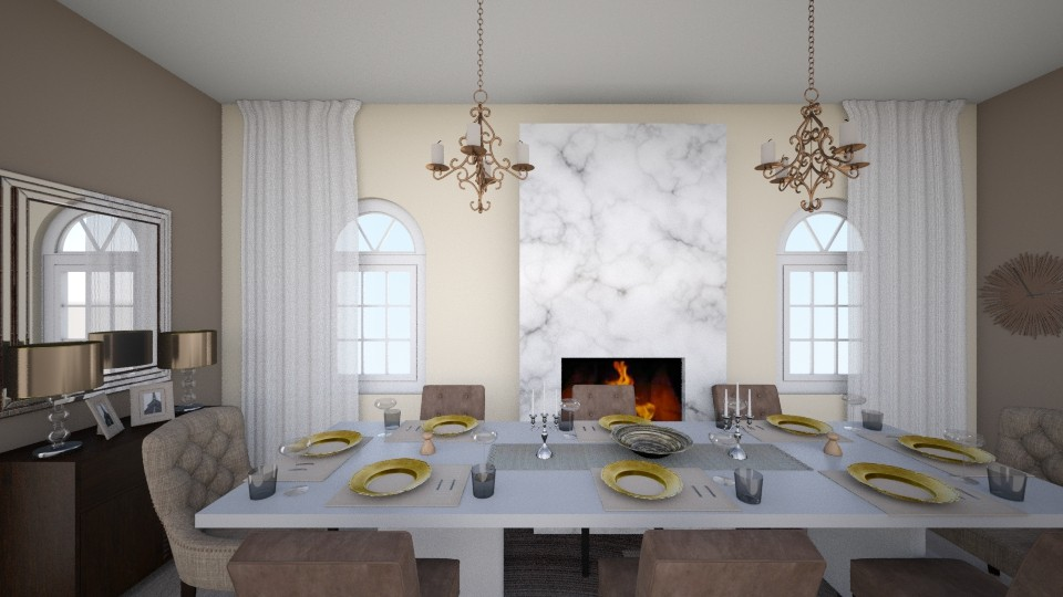 elegance dining table  - Dining room - by rozay95