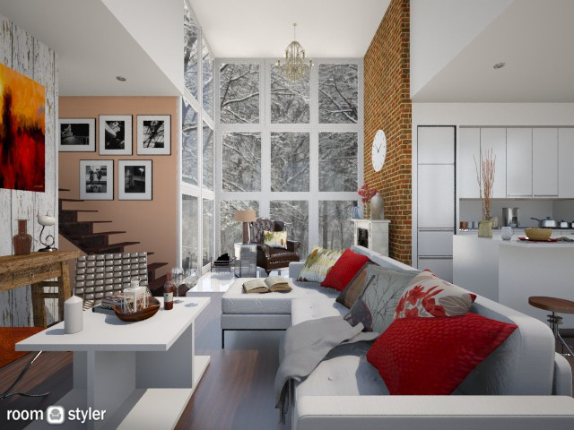 Warm Cabin - Living room - by smccauley029