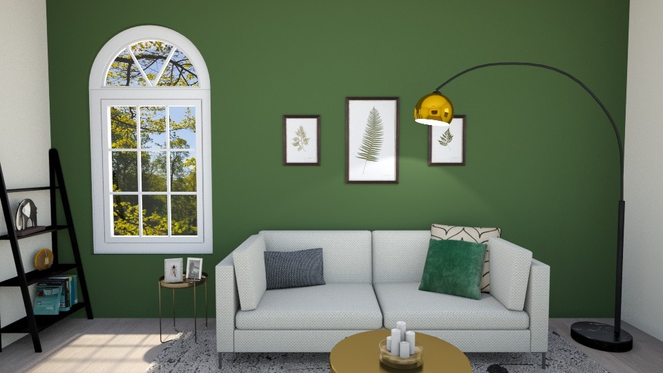green - Masculine - Living room - by s_ku