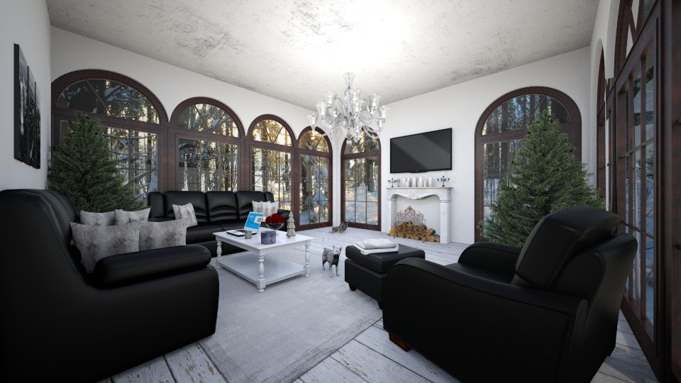 Winter Living Room  - Living room - by sways2