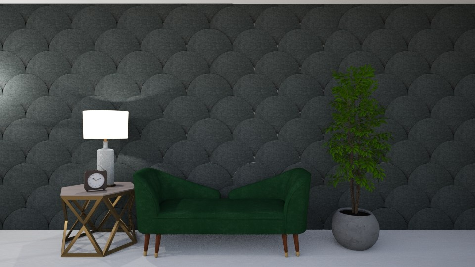 Green And Scalloped 7786 - Modern - Living room - by Puppies44