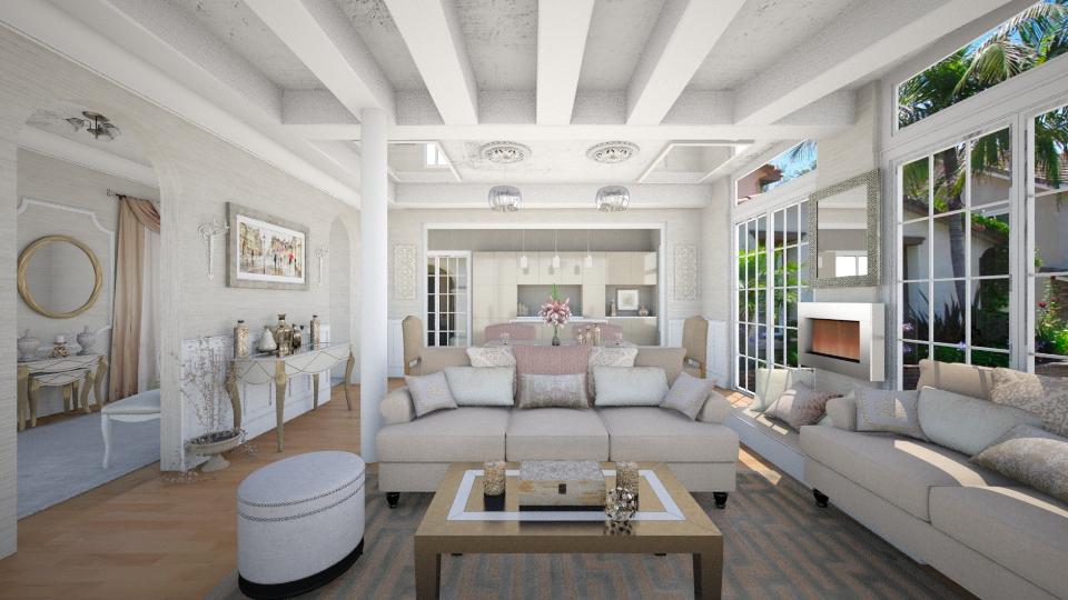 Her Santa Monica Villa - Living room - by steph01mami
