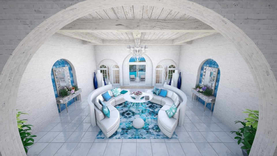 Modern Greek Living Room - Modern - Living room - by Candleshy