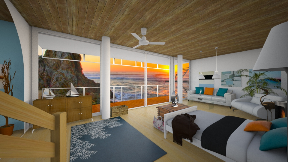Beach House - Bedroom - by Lovethewild123