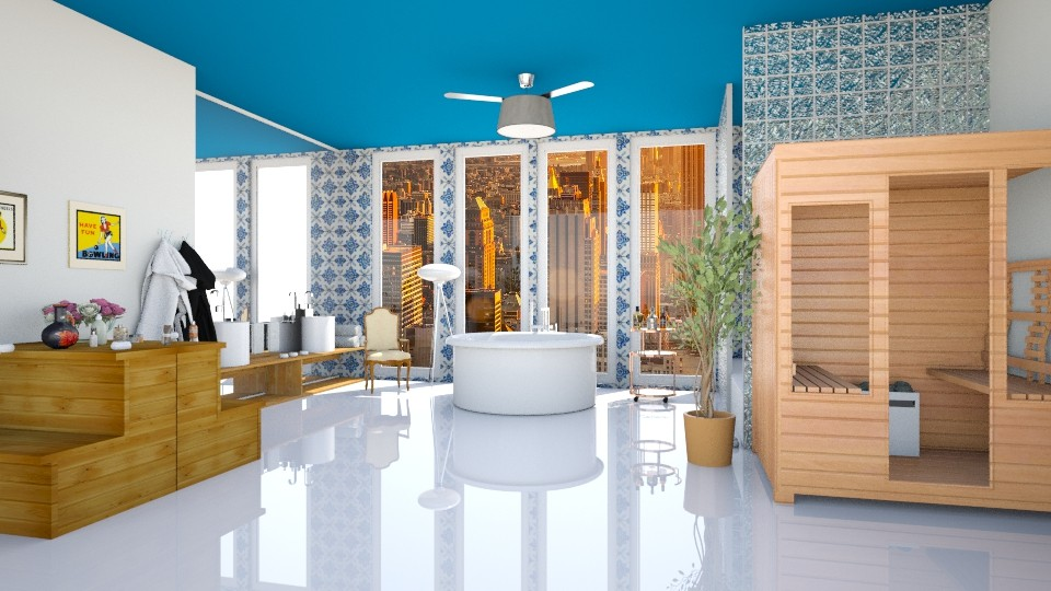 102 Bathroom blue - Bathroom - by Agata_ody