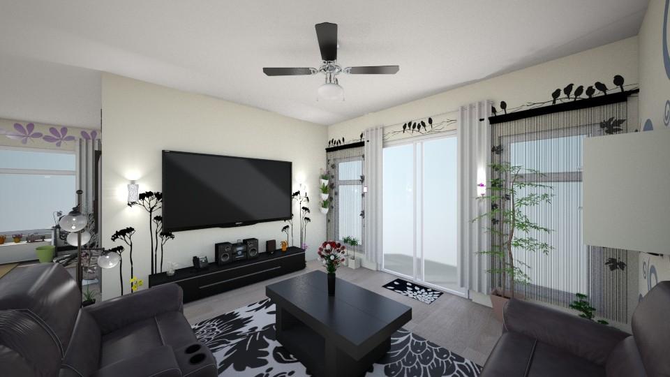 My Room1 - Living room - by Yuki Cu