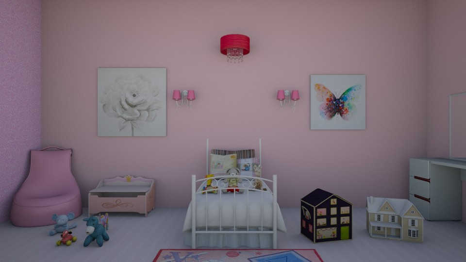 Pink Kid Room - Feminine - Kids room - by rileyemily