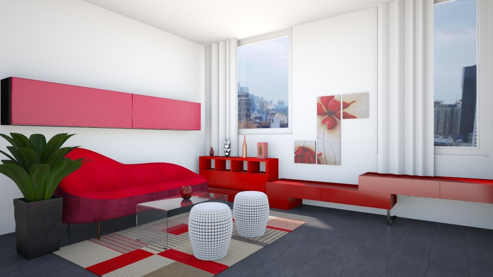 red'n'white - Modern - Living room - by ljiljanan