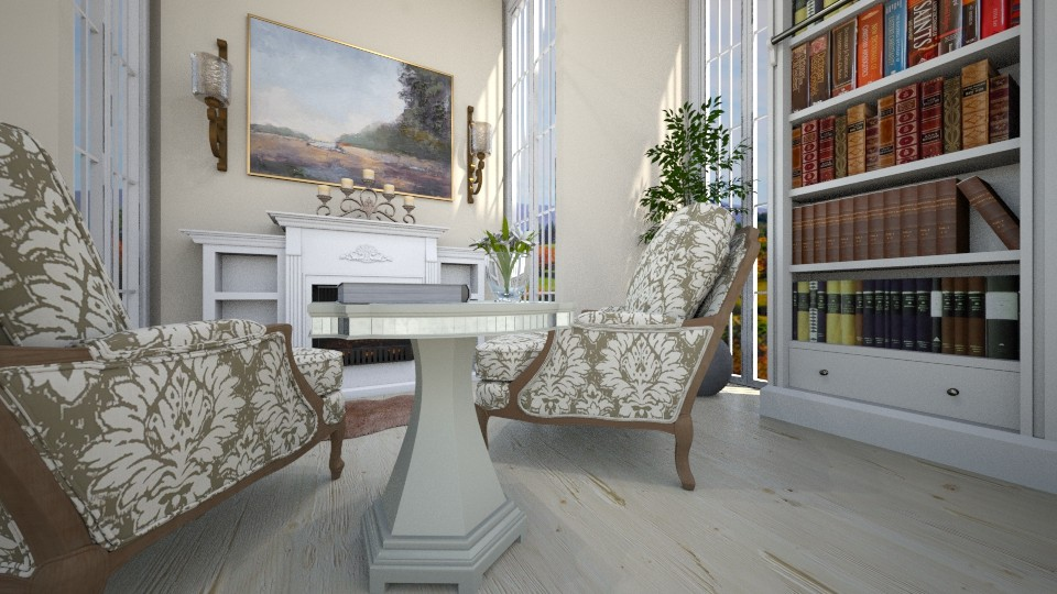Modern Colonial - Living room - by elle rose
