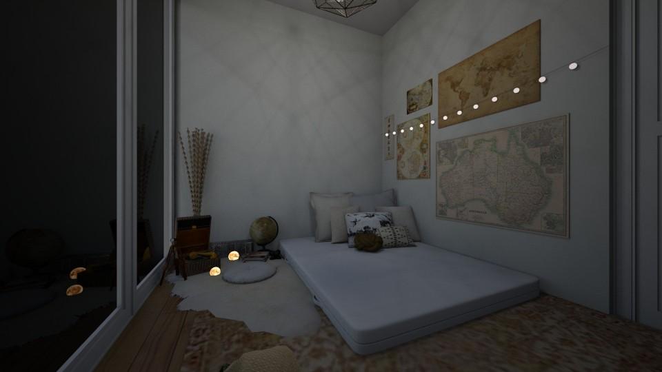 floor bed - Bedroom - by nazlazzhra
