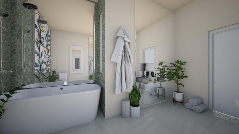 Green Bathroom - Bathroom - by PeaceLady13