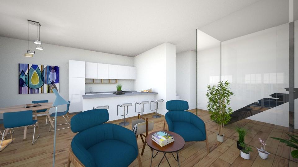blue - Living room - by kapetanovica23