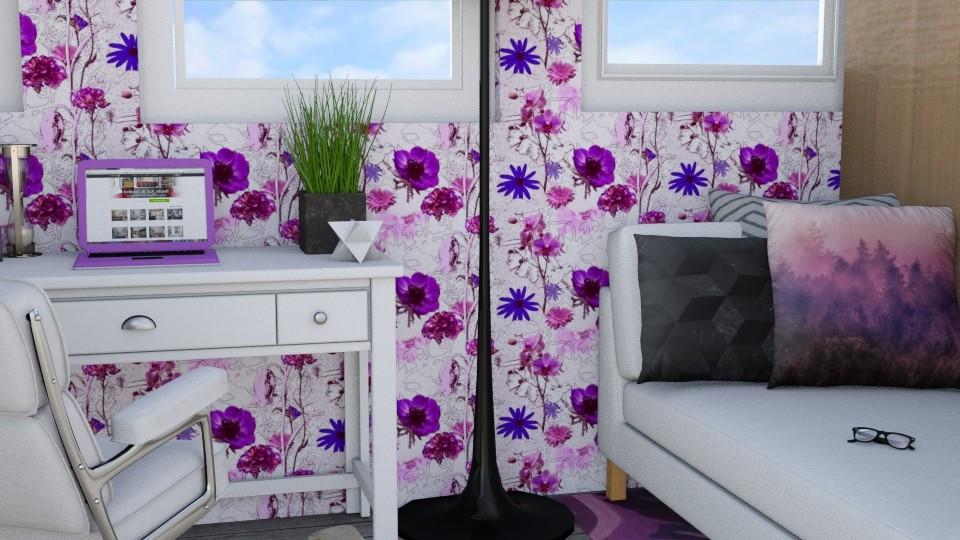 A Splash Of Purple - Bedroom - by Qtangel