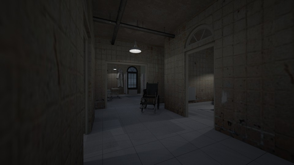 Hospital Hallway - Vintage - by kerryrosemoan