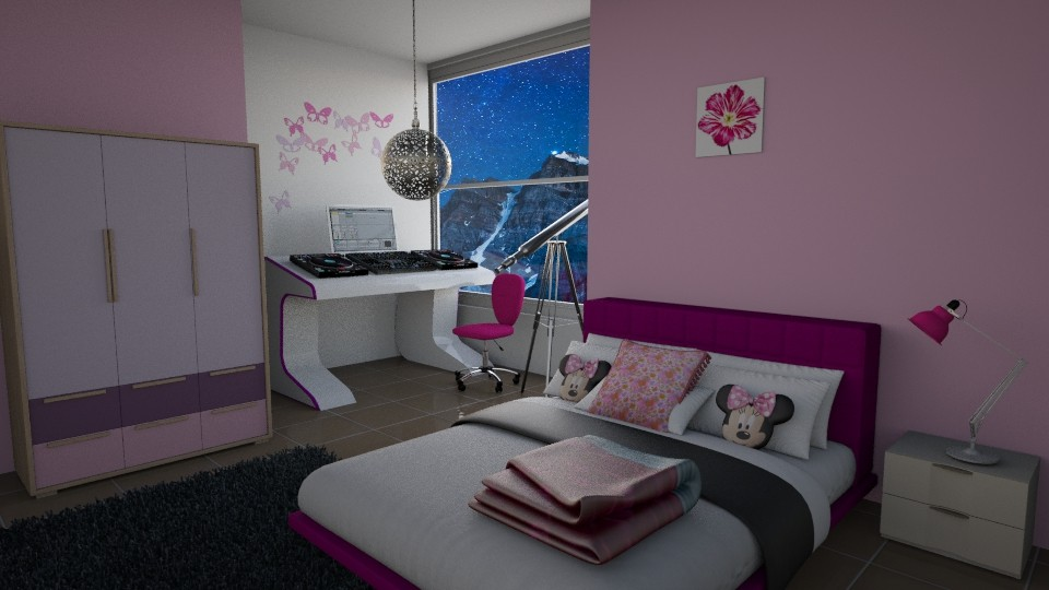 Minnie Mouse Girl room - Modern - Bedroom - by oliinree12